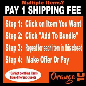 PAY ONE SHIPPING FEE